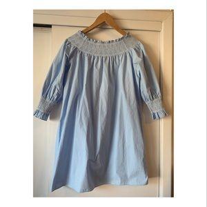 Sky blue Zara off shoulder dress